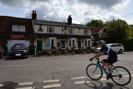 front of pub and bike