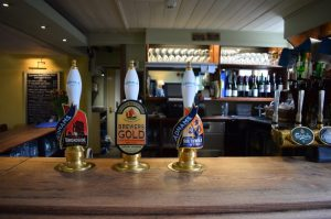 Adnams Bitter, Broadside and Brewers Gold