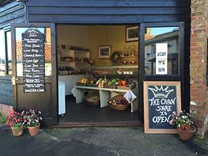 front of the deli shop