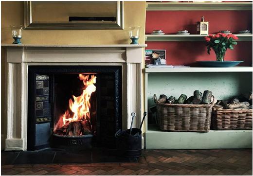 cosy winter fire