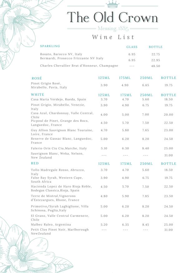 Wine List 2020