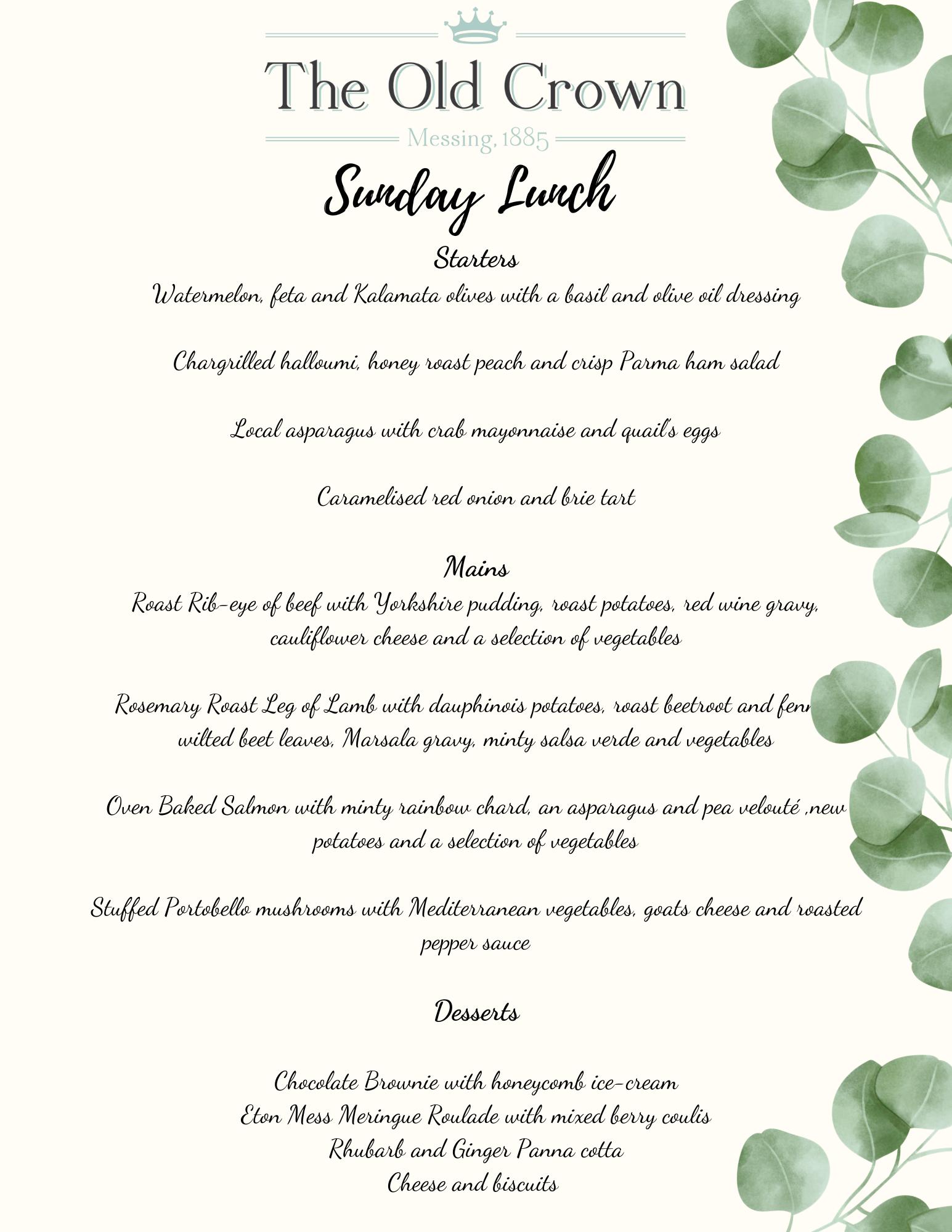 Sunday Lunch 13.06.21